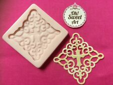 First Communion cross Lace silicone mold fondant cake decorating icing food FDA