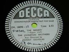 JOHNSTON BROTHERS: The Bandit -Decca Demo 78rpm (KEYNOTES: Dime and a Dollar)188