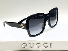 Authentic GUCCI GG0036S 001 Black/Grey Lens 54mm Square Women's Sunglasses