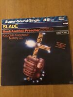 "SLADE  - Rock & Roll Preacher / Knuckle Sandwich Nancy 12"" Rare Double Single"