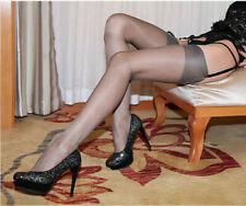 ULTRA SHEER Hauchdünne Nylons Nylonstrümpfe Strümpfe glänzend Long Stockings