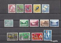 Schweiz gestempelt 1956 kompletter Jahrgang in sauberer Erhaltung