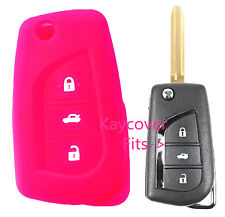 PINK SILICONE CAR KEY COVER for TOYOTA CAMRY COROLLA SPORT 2013 2014 ASCENT