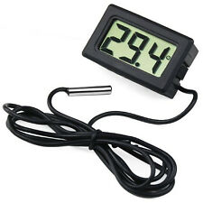 Digital LCD Fisch Aquarium Wasser Temperatur Thermometer Sensor Messergerät Neu