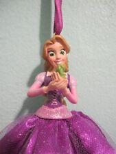 Disney Princess RAPUNZEL Tangled Christmas Ornament 2012 and Princess Tiana 2011