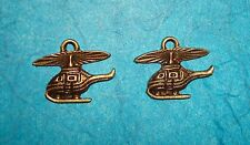 Pendant Helicopter Charms Bronze Helicopter Air Force Charm Military Transport