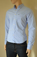 NEW Abercrombie & Fitch Kilburn Mountain Light Blue Stripe Shirt XL RRP £82