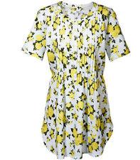 Tunikabluse mit frischem Blumendruck und modischen Biesen* Gr.48