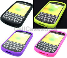 For Blackberry Q10 Solid Color Silicone Soft Cover Case