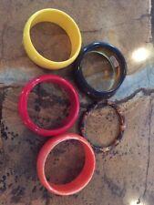 women's wrist Plastic Bracelets Lot Of 6