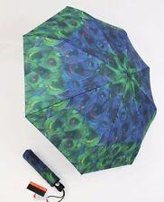 Pierre Cardin Automatik Regenschirm für Damen Pfauenmuster 01 Taschenschirm