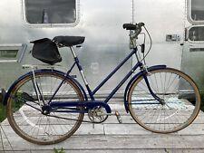 vintage blue raleigh 3 speed bicycle