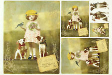 Carta di riso per decoupage, scrapbooking foglio vecchie foto Miss Dolly