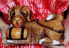 RARE! TIMMY WOODS ST SAINT BERNARD DOG SHOW MINAUDIERE SHOULDER BAG CLUTCH RARE
