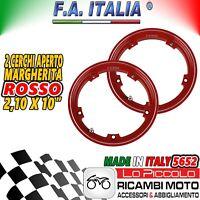 5652 2 CERCHI TUBELESS FA ITALIA ROSSI 2.10-10 VESPA SPECIAL  50 125 RIBASSATO