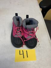 Nike Woodside Winter Boots High Toddlers Pink Foil Black Grey 524878-600 sz 9 C