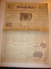 MELODY MAKER 1934 APRIL 21 COLEMAN HAWKINS JACK PAYNE BBC PALLADIUM