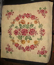 Colorful Flower Wreath Tapestry Pillow Top Fabric Piece