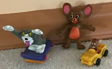 1989 Just Toys Tom & Jerry Bendable Jerry Figure + Burger King Tom & Subway Car