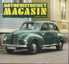 Motorhistoriskt Magasin Swedish Car Magazine #3 1994 Jowett Javelin 031617nonDBE