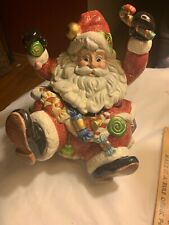 Fitz And Floyd Santa Sugar Plum Candy Cookie Jar 1996 Christmas Nib