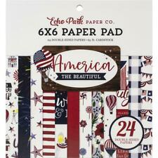 AMERICA Collection Scrapbooking 6x6 inch Paper Pad 24 Sheet Echo Park NEW
