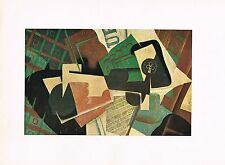 1940s Vintage Juan Gris Nature Morte Still Life Abstract Offset Litho Art Print