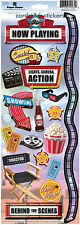 Paper House MOVIES Cardstock Stickers scrapbooking TICKETS SODA POPCORN