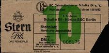 Ticket II. BL 81/82 FC Schalke 04 - Hertha BSC, Nordkurve