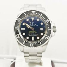 Rolex 44mm Deep Sea Dweller Model 116660 Blue & Black Dial Ceramic Bezel W Card