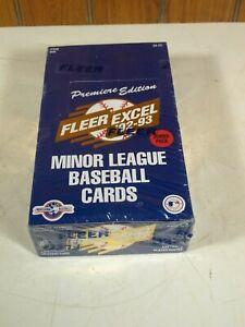 1992-93 Fleer Excel Premiere Edition Minor League Baseball Factory Sealed Box