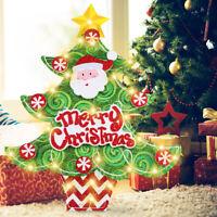 45 LED Christmas Tree Hanging Pendant Santa Claus Ornament Xmas Home Decor