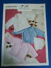 Teddy Children's Cardigans & Bonnet Knitting Pattern 7186