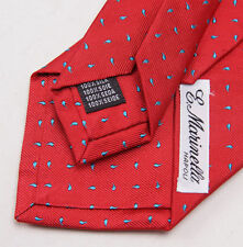 New E. Marinella Napoli 7 Fold Tie Hand-made in Italy of Finest 100% Silk