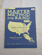 MASTER METHOD FOR BAND - LESSON BOOK 1 - TROMBONE - by CHARLES S. PETERS