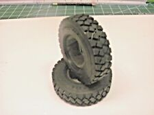 TRACTOR TRAILER SNOW WINTER TIRES 1/14 Truck 84mm LESU STOCK SIZE S-1213 tamiya