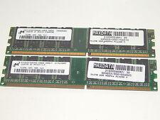 1GB (2x512MB) Micron MT16VDDT6464AG-40BGB DDR1/400 PC3200 Arbeitsspeicher Memory