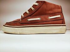 SPERRY TOP-SIDER #063548 HIGH TOPS LEATHER/SUEDE BROWN SHOES (9.5)