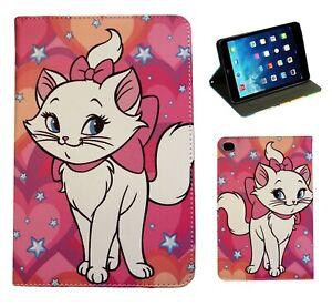 For Apple iPad Mini 1 2 3 4 5 Marie Aristocats Disney Cat Kitty Case Cover