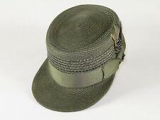 Men Fashion Straw Style Hat BRUNO CAPELO Legionnaire Telescope Crown LG223 olive