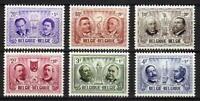 A7628) Belgium 1957 Scott #B599/604 MNH Fam. People 6v
