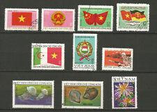 Vietnam du Nord 1974/75 10 timbres oblitérés /T8296
