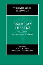 Book Cambridge History of American Theatre Theater Volume III Hardcover Drama