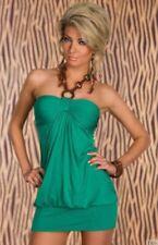 Viscose Sleeveless Dresses for Women with Bubble Hem