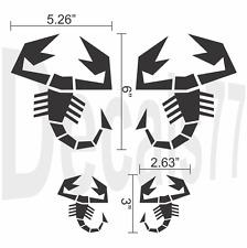Fiat 500 Abarth Scorpion Mirror Set Decals Stickers Decal