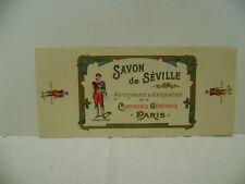 etiquette savon de seville parfumerie de la compagnie generale paris