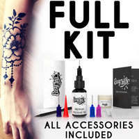 Easy.ink™ Freehand Temporary Tattoo Ink kit,SUPER DARK INK,pure Jagua,NOT Henna