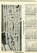 1961 Print Ad of Marlin Model 336 Rifle Parts List