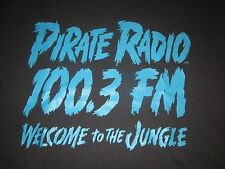 PIRATE RADIO 100.3 FM WELCOME TO THE JUNGLE VINTAGE 1987 TEE SHIRT GUNS N ROSES