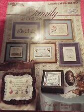 Counted Cross Stitch, Leisure Arts -Family- 25 designs. Leaflet 436 Vguc